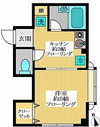 尾山台フラット[1階]の間取り
