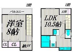 [テラスハウス] 東京都杉並区下高井戸4丁目 の賃貸【/】の間取り