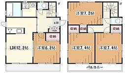 [一戸建] 東京都東村山市野口町3丁目 の賃貸【/】の間取り