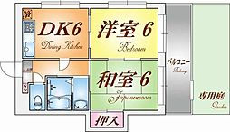 ユーワコート松風[2階]の間取り