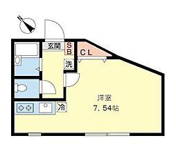神奈川県横浜市緑区十日市場町の賃貸アパートの間取り