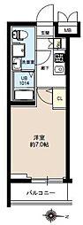 JR常磐線 亀有駅 徒歩10分の賃貸マンション 1階1Kの間取り