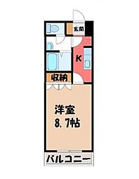 栃木県下野市仁良川の賃貸アパートの間取り