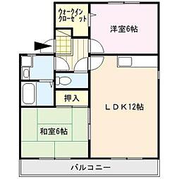 セジュ−ル坂井1[203号室]の間取り