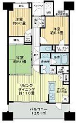 ライオンズステージ立川ラフィナタワー 17階3LDKの間取り
