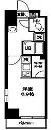 東京都墨田区亀沢1丁目の賃貸マンションの間取り