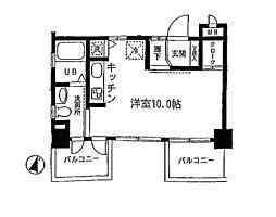 東京都世田谷区桜新町2丁目の賃貸マンションの間取り