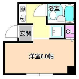 ニューストークアパートメント禁野本町[4階]の間取り