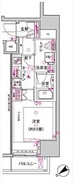 東京メトロ日比谷線 神谷町駅 徒歩4分の賃貸マンション 地下4階1Kの間取り