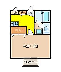 STEP・1日進[1階]の間取り