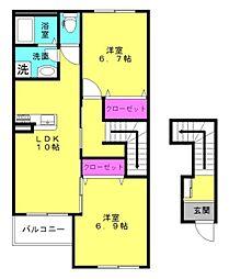 仮)本町新築アパート[203号室]の間取り