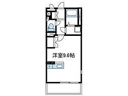 神奈川県座間市栗原中央5丁目の賃貸アパートの間取り