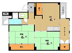五位ノ池南ビル[5階]の間取り