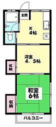 東京都練馬区早宮2丁目の賃貸アパートの間取り