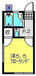 めぐみ荘[201号室]の間取り