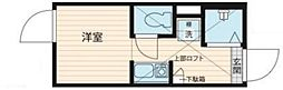 QUQURI北新宿 2階ワンルームの間取り