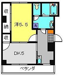 アムールフジ[2階]の間取り