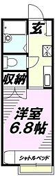 埼玉県所沢市日吉町の賃貸アパートの間取り