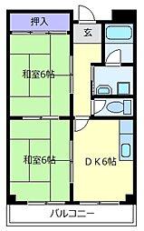 アートアイマンション[4階]の間取り