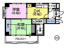 サンナップコート[2階]の間取り