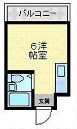 メルヘン新今里 仲介手数料10800円 専用消毒も不要[2階]の間取り