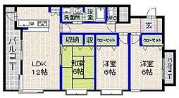 YUKOハイムII[2階]の間取り