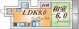 東須磨八木マンション[3階]の間取り