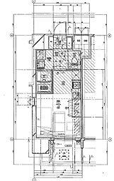 福岡市地下鉄七隈線 渡辺通駅 徒歩5分の賃貸マンション 13階1Kの間取り