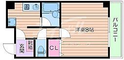 大阪府吹田市千里山東4丁目の賃貸マンションの間取り
