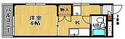 ガーデンホーム[203号室]の間取り