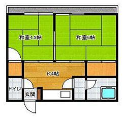 北崎荘[10号室]の間取り