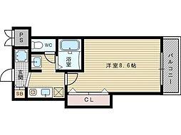 M'プラザ新大阪壱番館[2階]の間取り