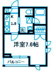 神奈川県横浜市鶴見区尻手3丁目の賃貸アパートの間取り