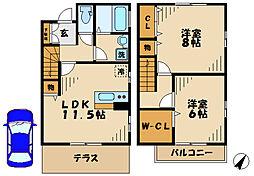 [テラスハウス] 神奈川県川崎市麻生区片平 の賃貸【/】の間取り