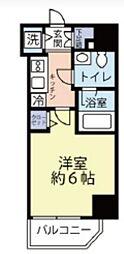 グランヴァン横濱反町 6階1Kの間取り