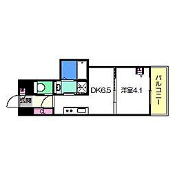 Osaka Metro御堂筋線 あびこ駅 徒歩8分の賃貸マンション 8階1DKの間取り