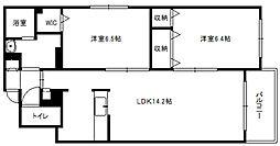 北海道札幌市白石区東札幌四条4丁目の賃貸マンションの間取り
