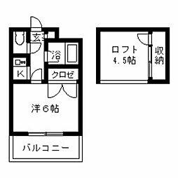 オーセンティックハウス[312号室]の間取り