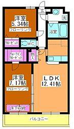 サン・ミケーレ[6階]の間取り
