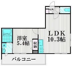 東京都大田区西馬込1丁目の賃貸マンションの間取り