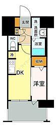 福岡市地下鉄七隈線 渡辺通駅 徒歩5分の賃貸マンション 7階1DKの間取り