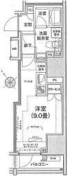 アイルイムーブル日本橋 3階ワンルームの間取り