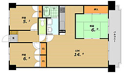 ライオンズマンション西鈴蘭台第2[7階]の間取り