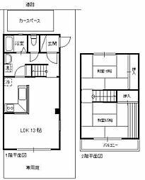 [テラスハウス] 埼玉県所沢市こぶし町 の賃貸【/】の間取り
