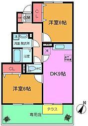 千葉県船橋市古作3丁目の賃貸アパートの間取り