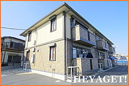 東京都日野市大字上田の賃貸アパートの外観