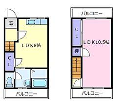 大阪府堺市美原区丹上の賃貸マンションの間取り