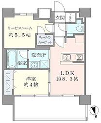 東京メトロ千代田線 湯島駅 徒歩6分の賃貸マンション 9階1SLDKの間取り