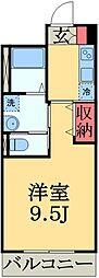 千葉県千葉市中央区浜野町の賃貸マンションの間取り