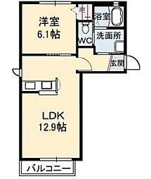 グラシアス・セゾン A棟[2階]の間取り